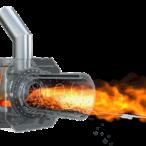Hořák s rotační spalovací komorou Blaze Harmony
