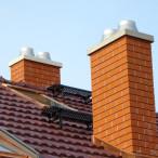 Ukončení nad střechou. Zdroj: Schiedel.